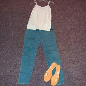 Rewash turquoise vintage wash skinny jean